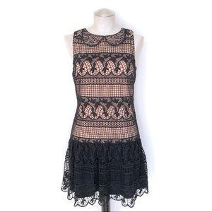 Alice + Olivia Peri Ruffle Hem Mini Dress Size 4